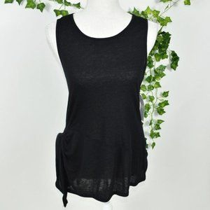 Nordstrom's Trouve NWT side tied black tunic top